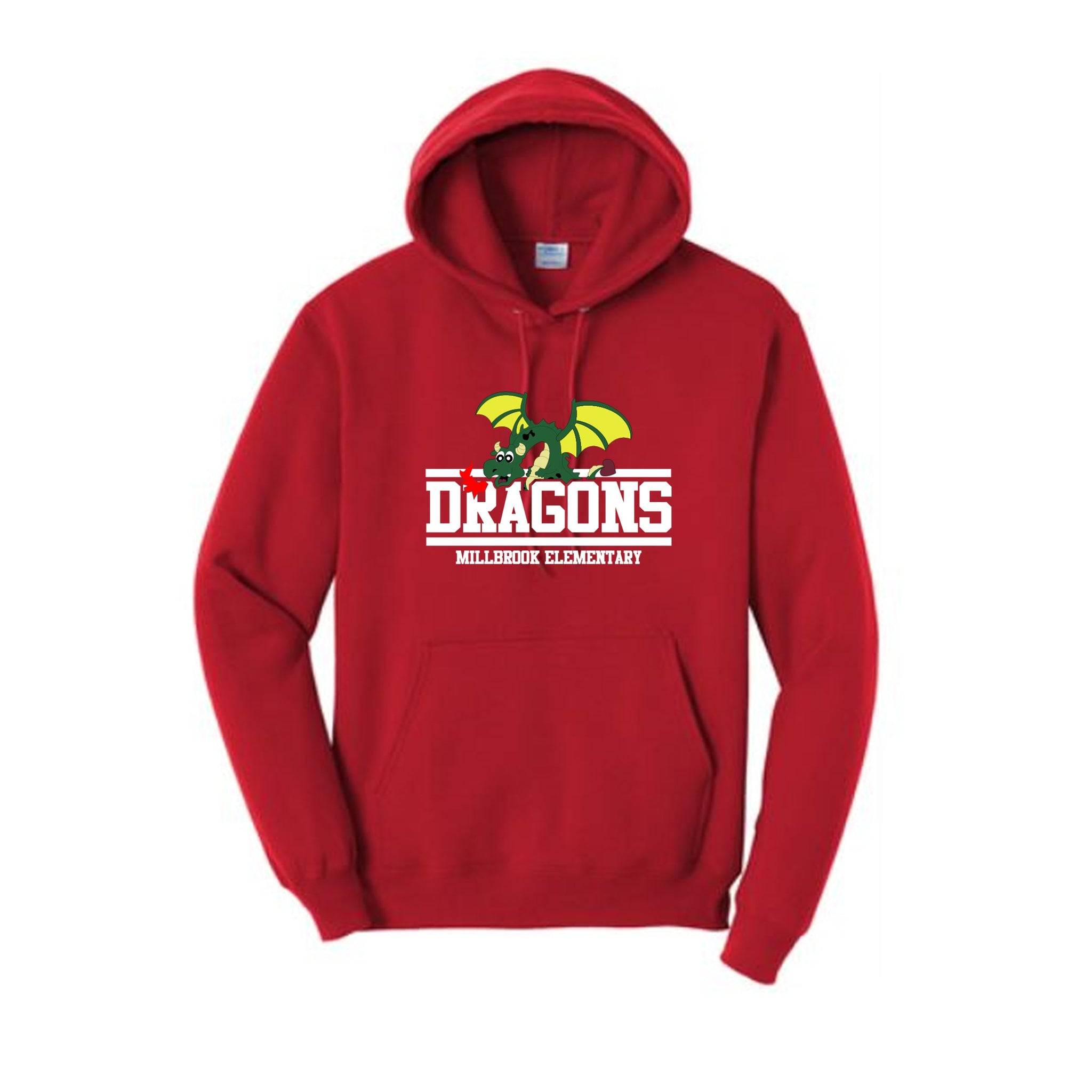 Red Millbrook Youth Hooded Sweatshirt