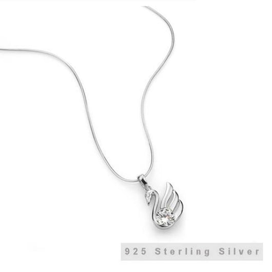 Swan necklace สร้อยคอเงินแท้ พร้อมจี้หงส์ 925 sterling silver /cz dimond (made in Thailand) premium quility