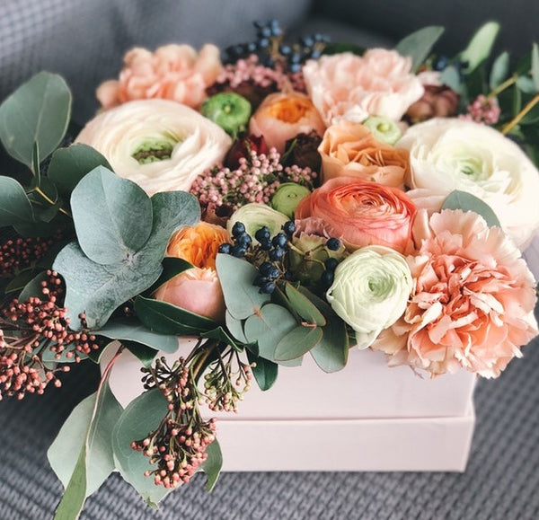 Mixed Fresh Flowers in a  Keepsake box