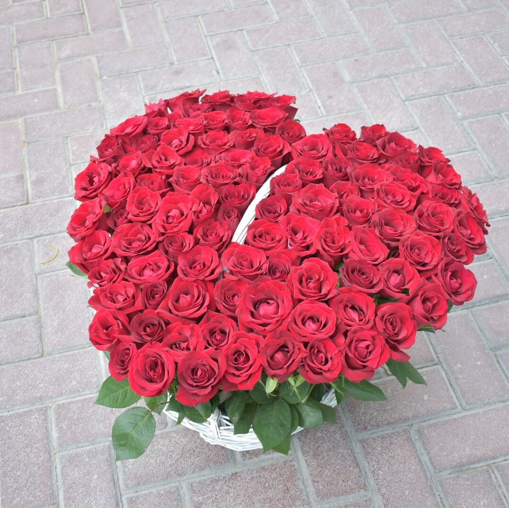 Made for Each Other - Flower Basket -  Flower Delivery - Flower Station Dubai
