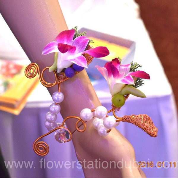 Lovely Corsage - Orchid -  Floral Jewelry - The Flower Station