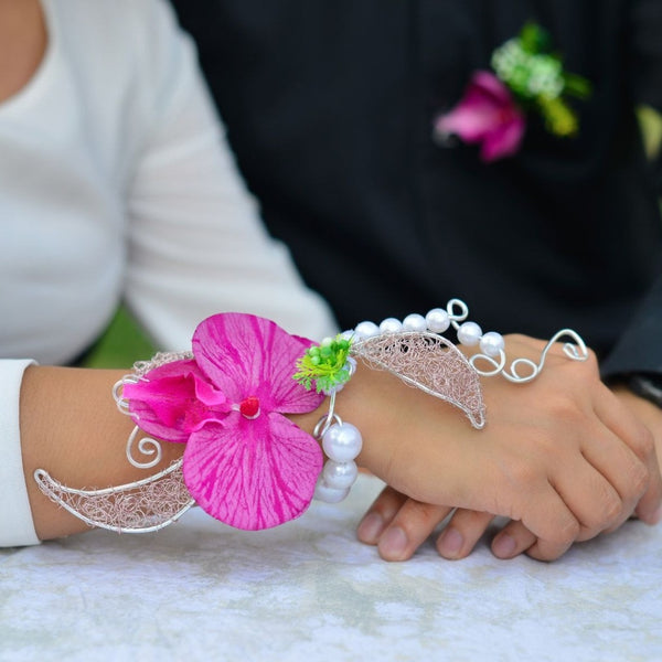 Corsage - Orchid -  Floral Jewelry - The Flower Station