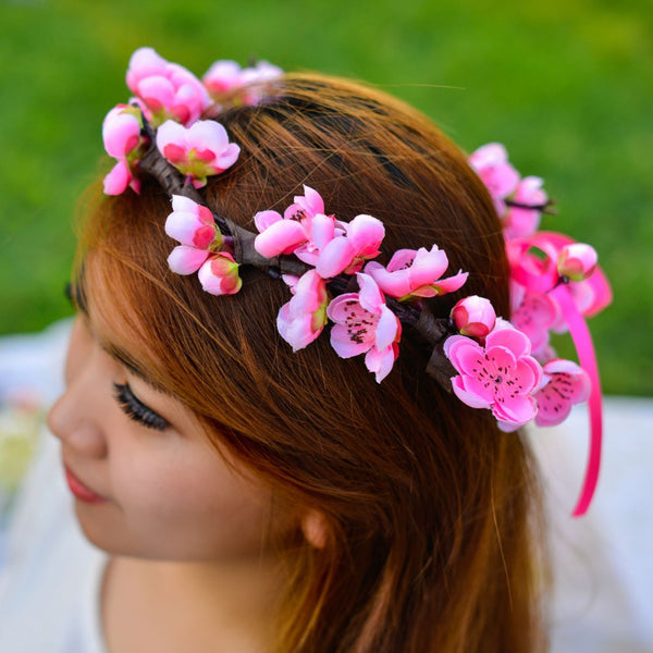 Floral Crown - Artificial flowers -  Floral Jewelry - The Flower Station