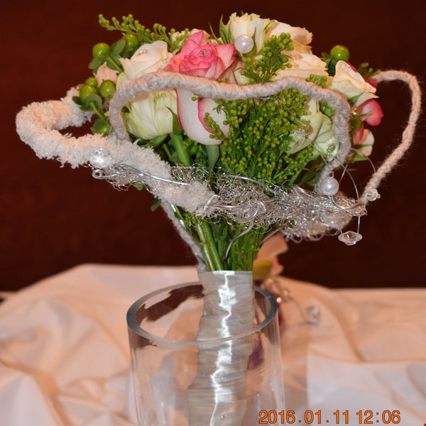 Angel - Bridal Bouquet -  Floral Jewelry - The Flower Station