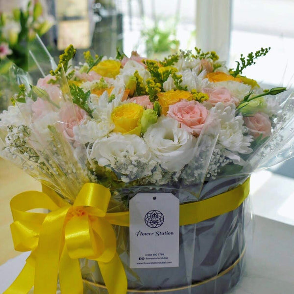 Summer Breeze - Flower Box -  Flower Gift  by Flower Station Dubai