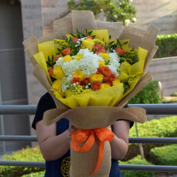 Wishing You Well - Mixed Bouquet -  Flower Gift  by Flower Station Dubai