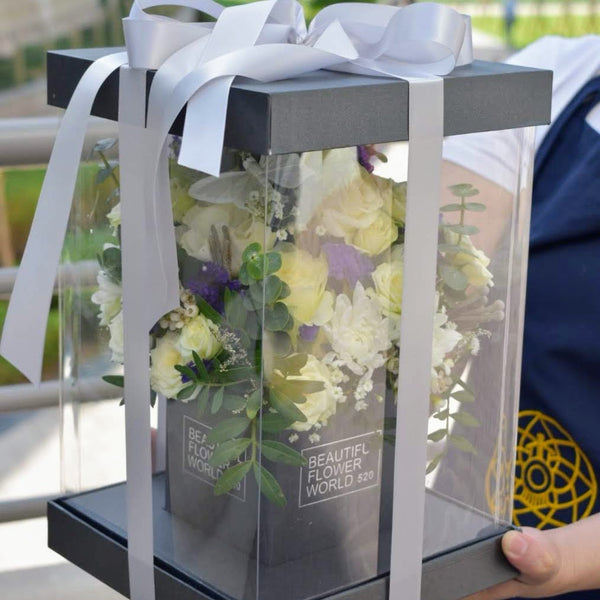 Cool White -  Flower Gift  by Flower Station Dubai