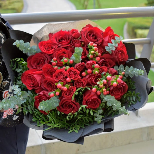 Love is ... - Mixed Bouquet -  Flower Gift  by Flower Station Dubai