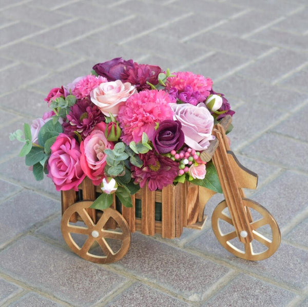 Rhythm Flower Cart - Artificial Flowers - Flower Station Dubai