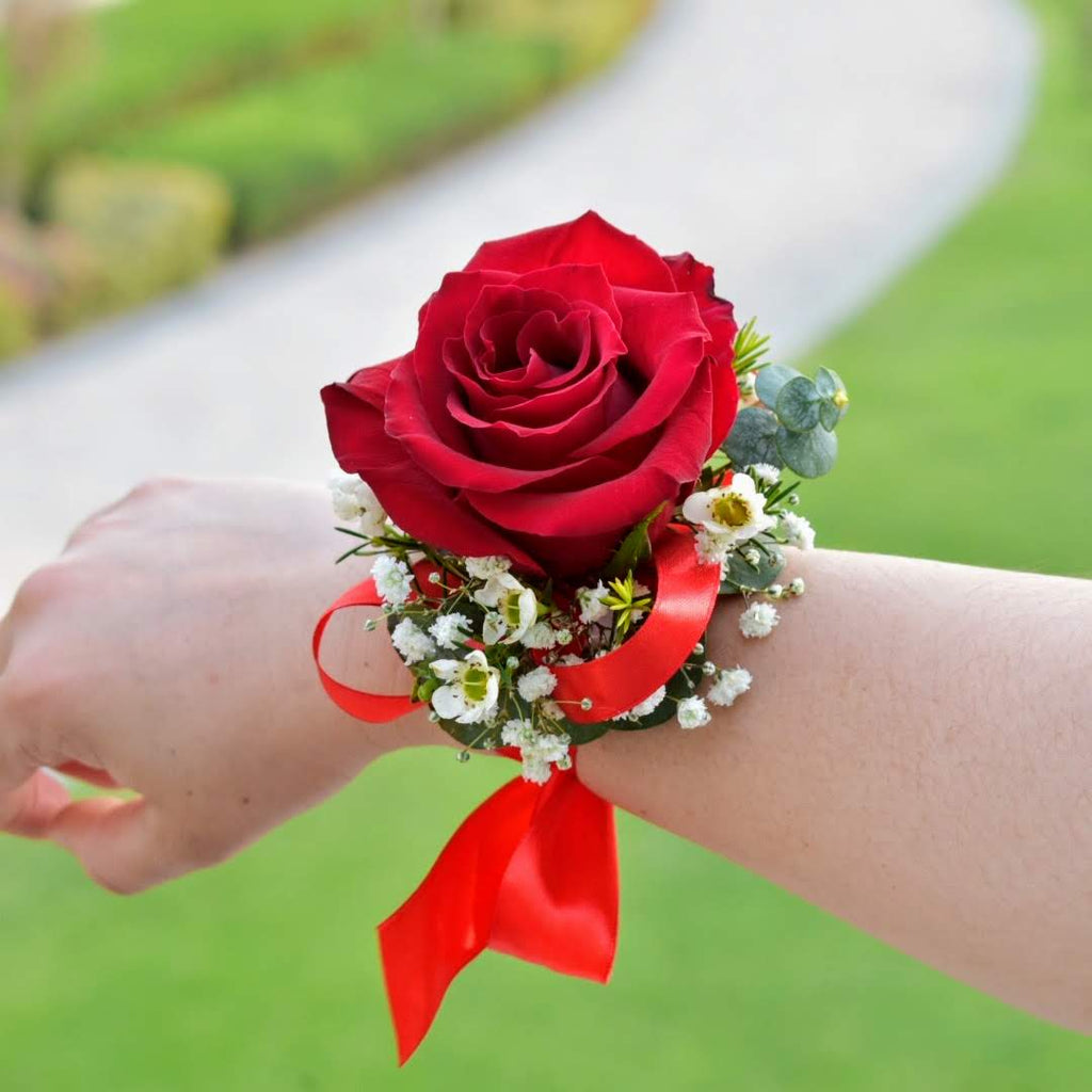 Red Romance - Corsage -  Flower Delivery - Flower Station Dubai