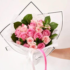 Pink Blush - Mixed Bouquet -  Floral Gifts - The Flower Station