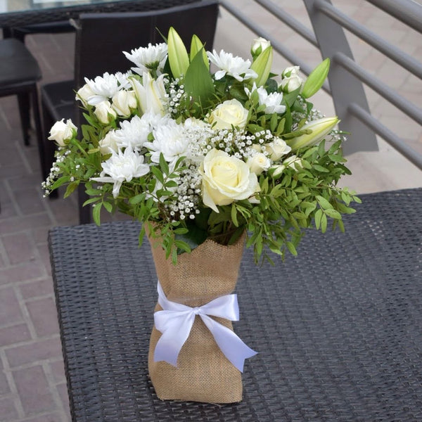 Snow White -  Flower Gift  by Flower Station Dubai