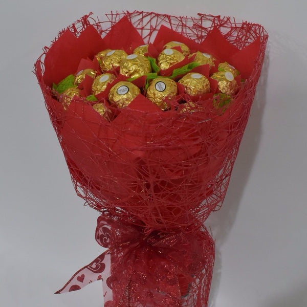Choquet - Ferrero Rocher Bouquet -  Floral Gifts - The Flower Station