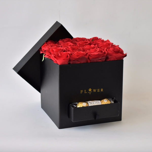 Red Romance -  Flower Gift  by Flower Station Dubai