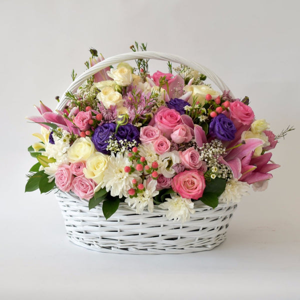 Fragrance - Flower Basket -  Flower Delivery - Flower Station Dubai