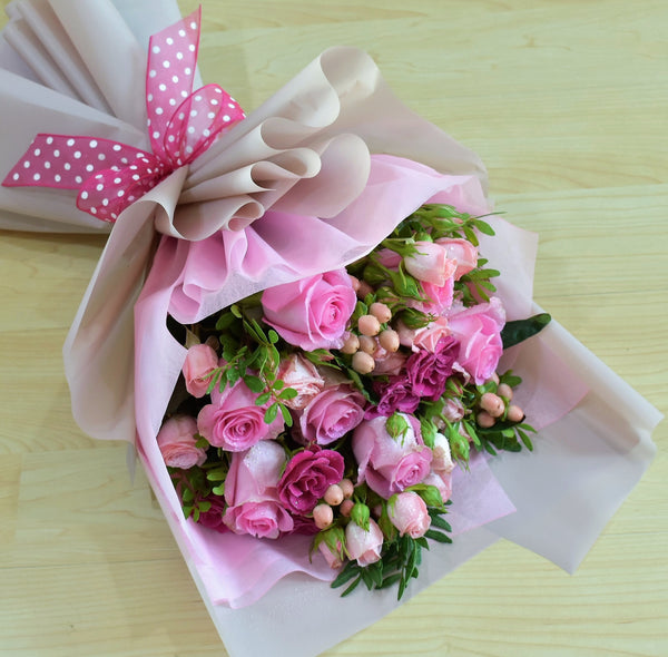 Sweetest Thing - Mixed Bouquet -  Flower Gift  by Flower Station Dubai