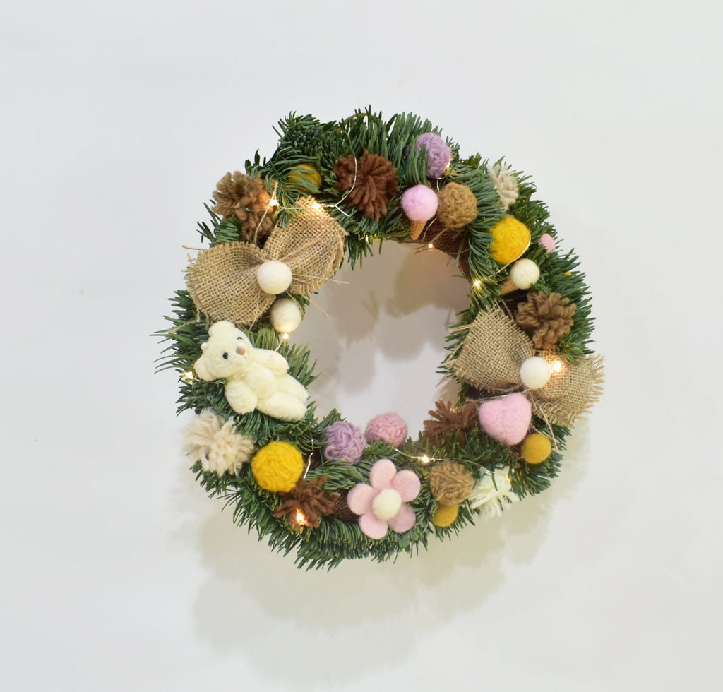 Fresh Christmas Wreath Grace - Real -  Wreath - The Flower Station