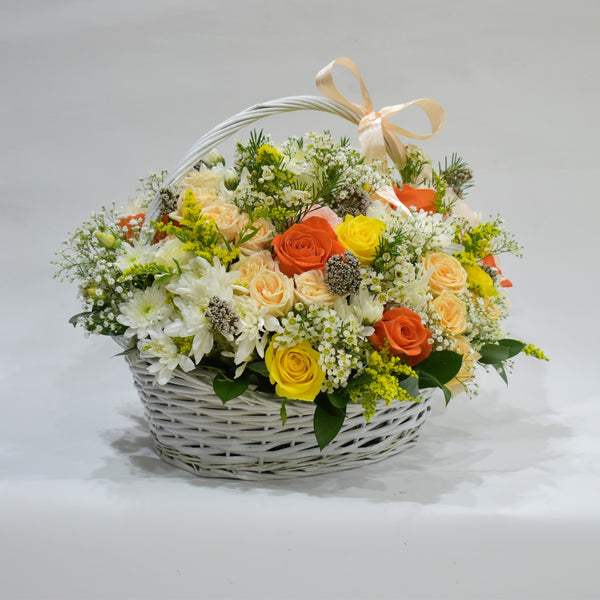 Fall in Love - Flower Basket -  Floral Gifts - The Flower Station