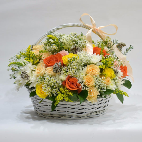 Fall in Love - Flower Basket -  Flower Gift  by Flower Station Dubai