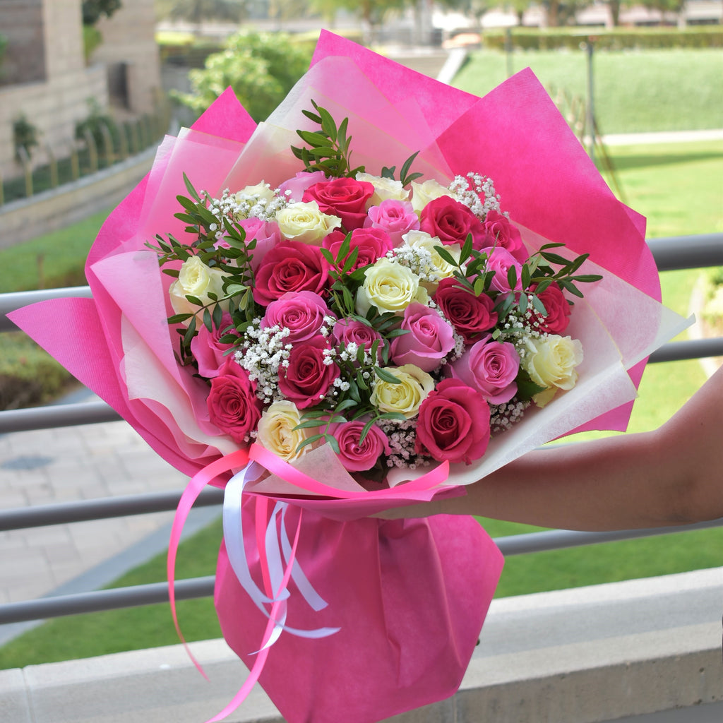 Just The Way You Are - Rose Bouquet -  Flower Gift  by Flower Station Dubai