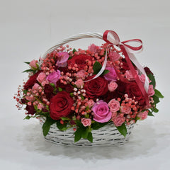 Romance - Flower Basket -  Floral Gifts - The Flower Station