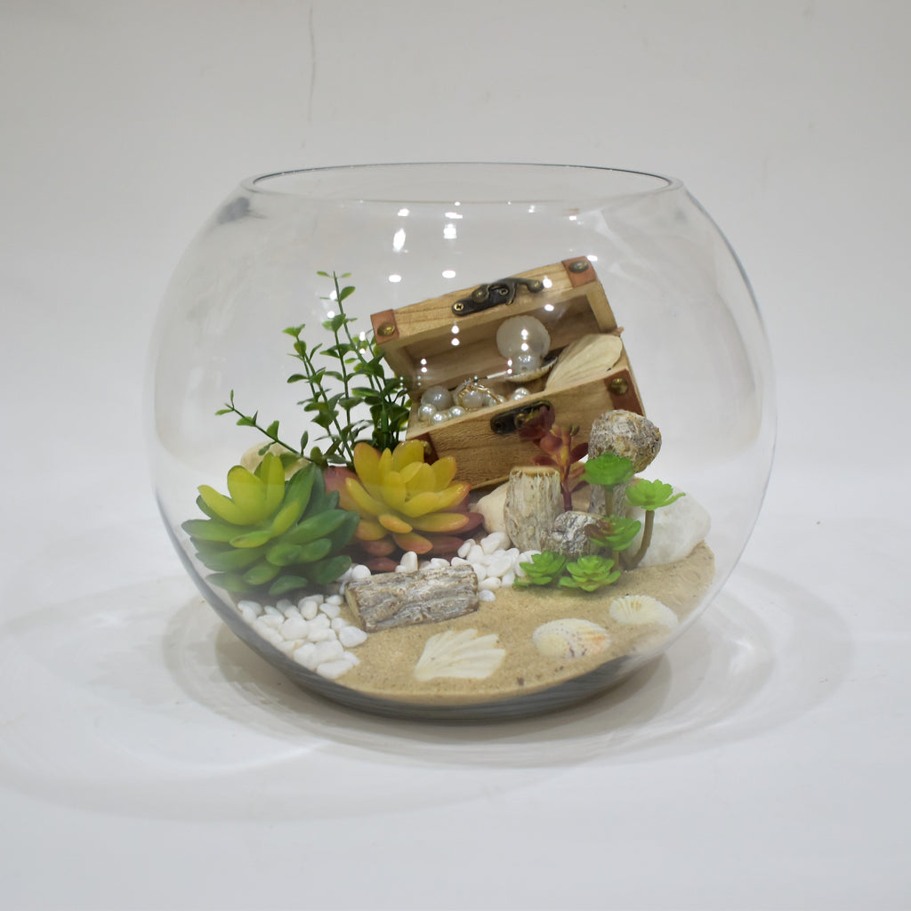 Terrarium Trunk Artificial Flowers Flower Station Dubai