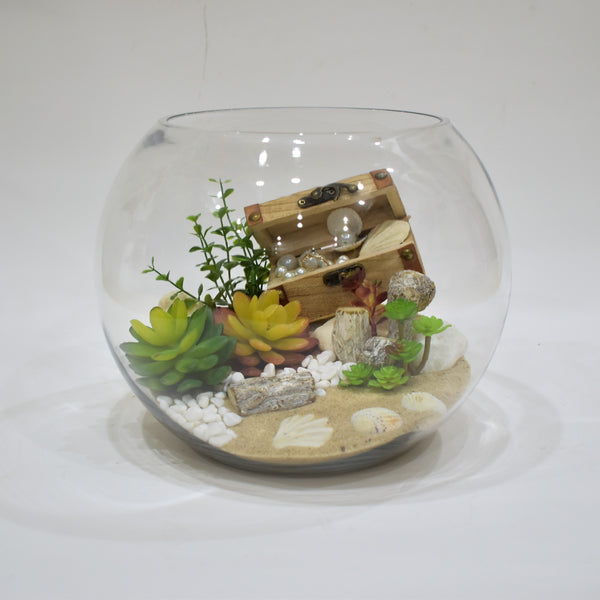 Terrarium Trunk - Artificial Flowers -  Flower Delivery - Flower Station Dubai