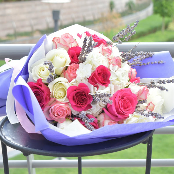 Secret Love - Mixed Bouquet -  Flower Gift  by Flower Station Dubai
