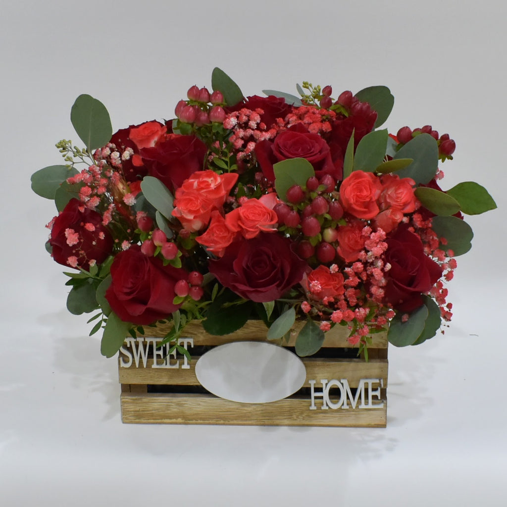 Red Wonder  - Flower Basket -  Floral Gifts - The Flower Station