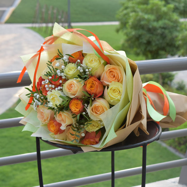 Blissful - Mixed Bouquet -  Flower Gift  by Flower Station Dubai