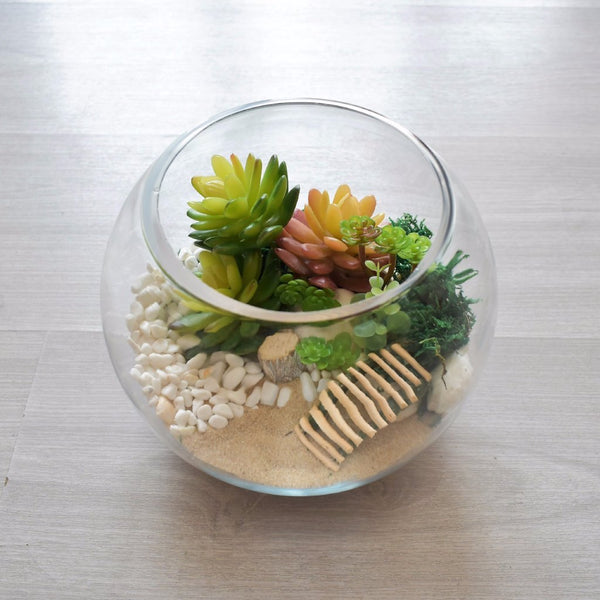 Terrarium Bridge - Artificial Flowers -  Flower Gift  by Flower Station Dubai