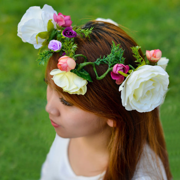 Floral Crown - Artificial flowers -  Flower Gift  by Flower Station Dubai