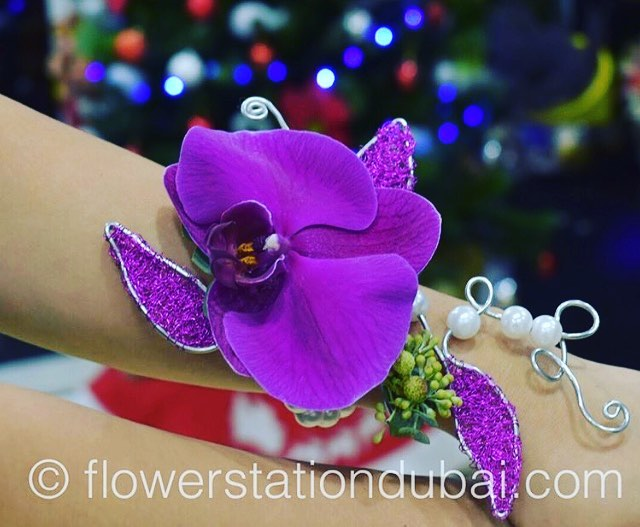 Corsage - Purple Orchid -  Floral Jewelry - The Flower Station