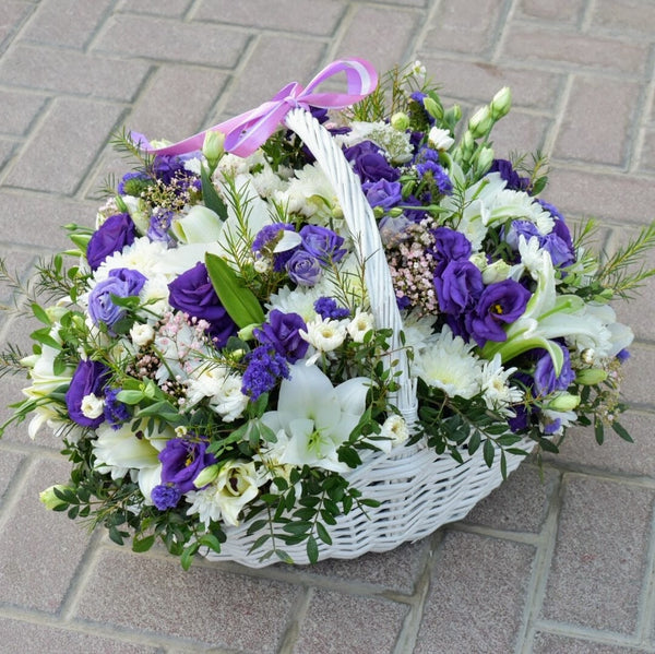 Elegance - Flower Basket -  Flower Delivery - Flower Station Dubai
