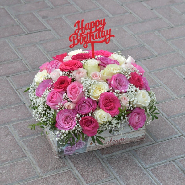 Garden  - Flower Basket -  Flower Gift  by Flower Station Dubai
