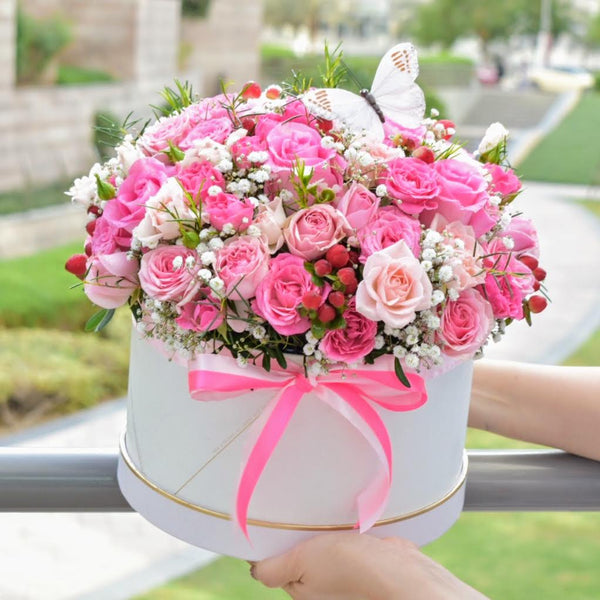 Cherry Blossom  - Flower Box -  Flower Delivery - Flower Station Dubai