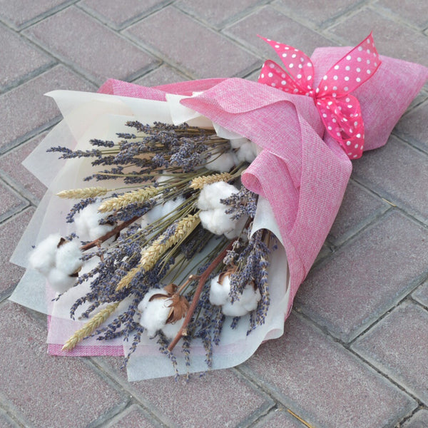 Cotton Lavender - Dried Bouquet
