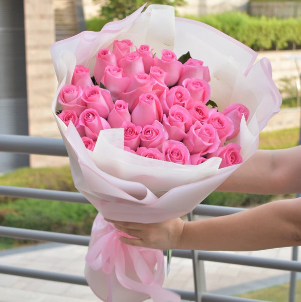 Angel - Pink Roses -  Flower Delivery - Flower Station Dubai