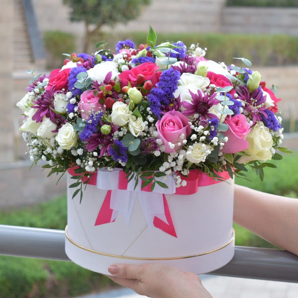 Simply Delightful - Flower Box -  Flower Delivery - Flower Station Dubai