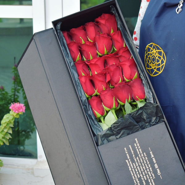 I'm Yours - Roses Box -  Flower Gift  by Flower Station Dubai
