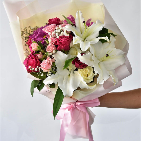 Lily Blossom - Mixed Bouquet -  Floral Gifts - The Flower Station