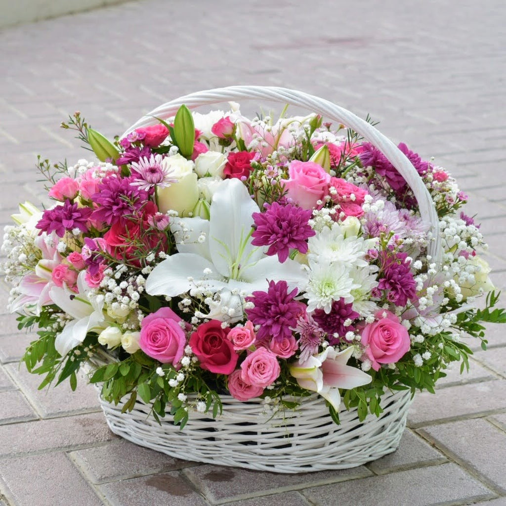 Radiance - Flower Basket -  Flower Delivery - Flower Station Dubai