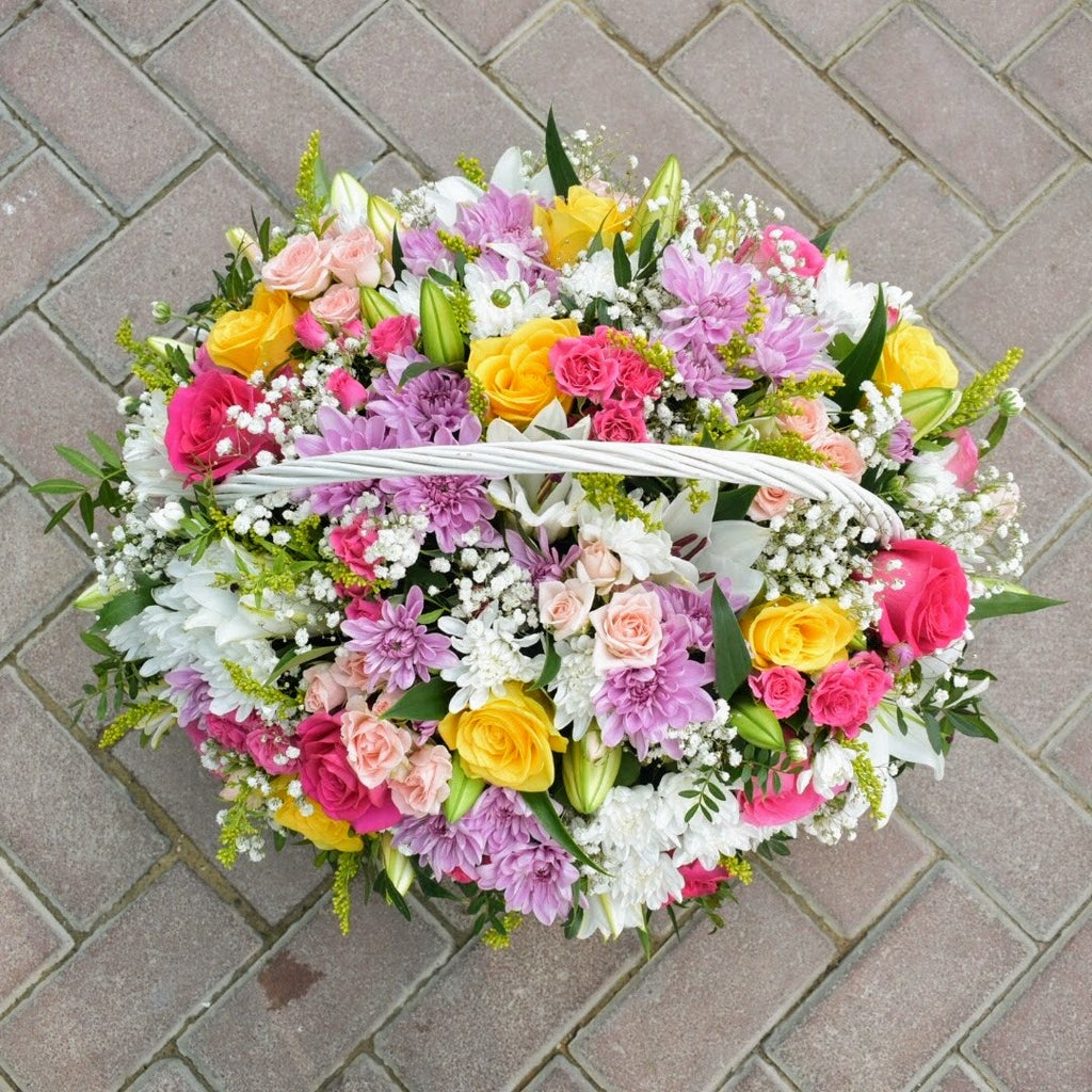 Eternal Sunshine - Flower Basket -  Flower Delivery - Flower Station Dubai