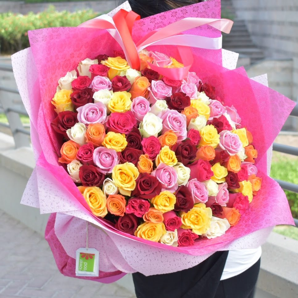 Colors of Life - Mixed Roses -  Flower Delivery - Flower Station Dubai