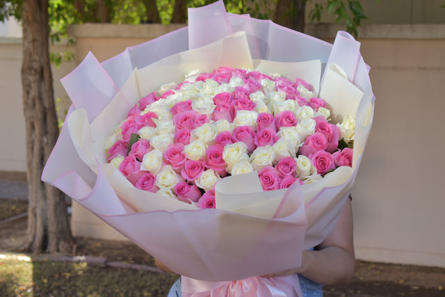 Princess - Pink & White Roses