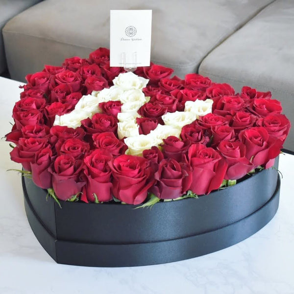 Rose Box with Letter - Flower Box