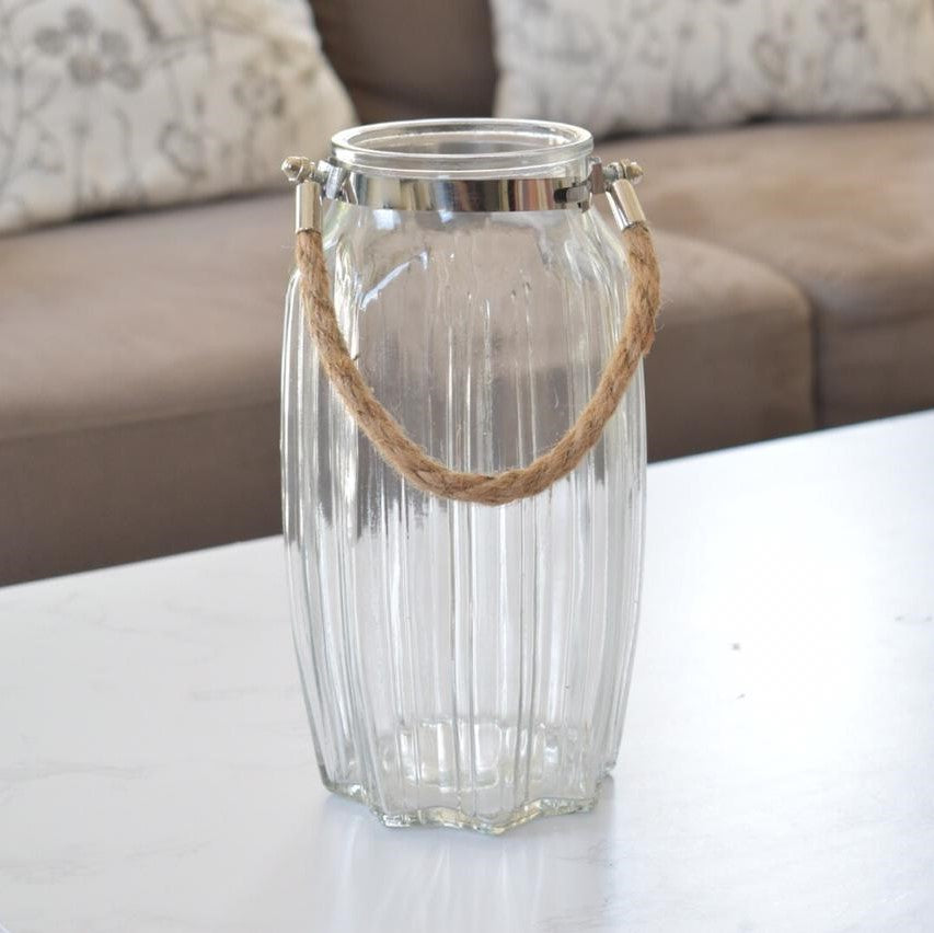 Glass Vase with Handle