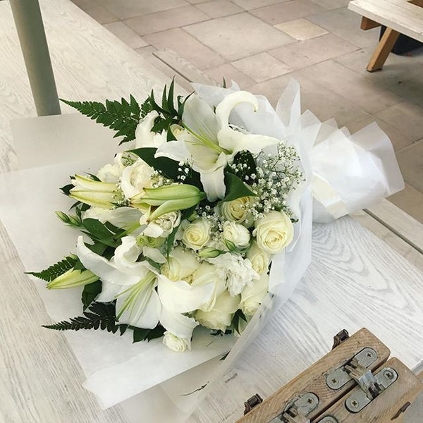 Snowflakes - Mixed Bouquet -  Flower Gift  by Flower Station Dubai