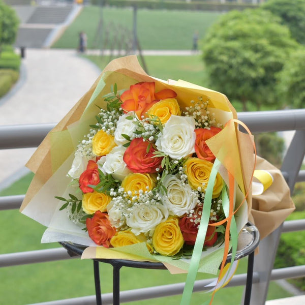 Blissful - Mixed Bouquet -  Flower Delivery - Flower Station Dubai