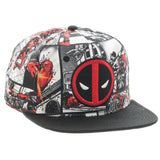 Marvel Comics Deadpool Comic Book Panels Sublimated Snapback